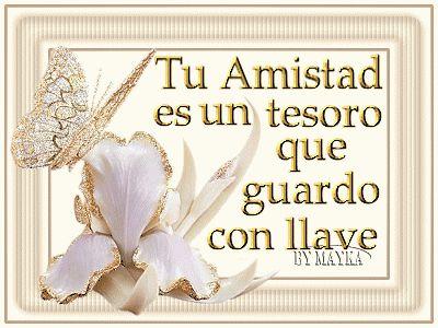 Tu Amistad es un tesoro que guardo con llave #amistad #amiga #amigos #amigas #amigo