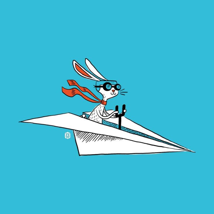 Paper Hare Plane by theloulander's Artist Shop