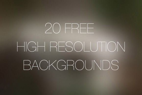 20 Free High Resolution Backgrounds PSD