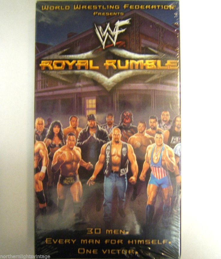 WWF Royal Rumble 2001 VHS Video 3 Hrs New Sealed Wrestling Rock Triple H. Angle