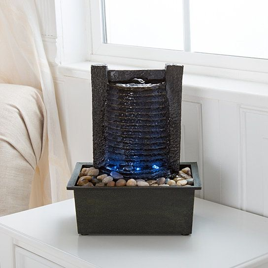 Bring The Soothing Sound Of Flowing Water Indoors With The Pure Garden Modern  Tabletop Fountain. Perfect For A Table Or Desk, Water Cascades Down A Wall  ...