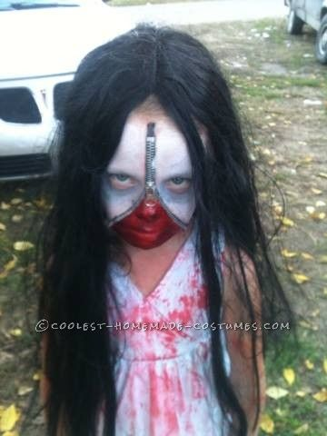 Scary Zipper-Face Bloody Mary Costume... Coolest Halloween Costume Contest