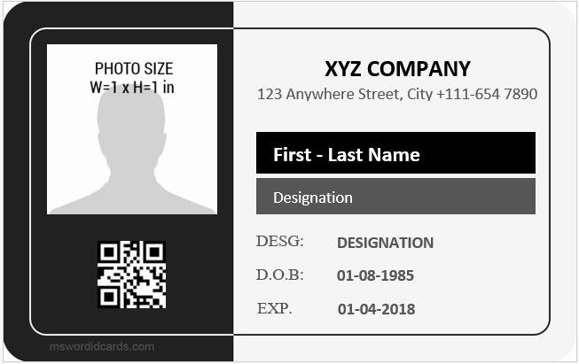 24 Employees Id Card Template In 2020 Id Card Template