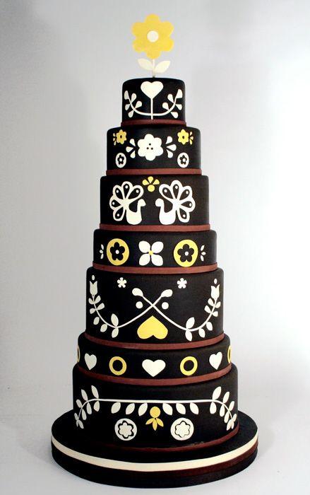 folk cakeModern Cake, Charms Cities, Folk Art, Colors Palettes, Wedding Cakes, Cities Cake, Dutch Design, Wedding Cake Design, Art Cake