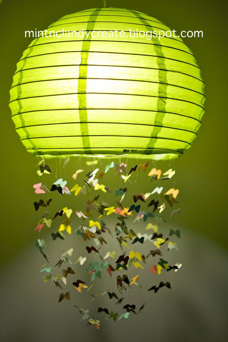 Mint & Clandy Create: Butterfly Lamp - Fly Away With Me Mobile (Part 3)
