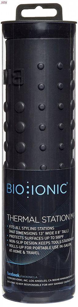 Thermal Station Mat BIO IONIC Safe To 500F Professional Hair Salon Travel Black  #BioIonic