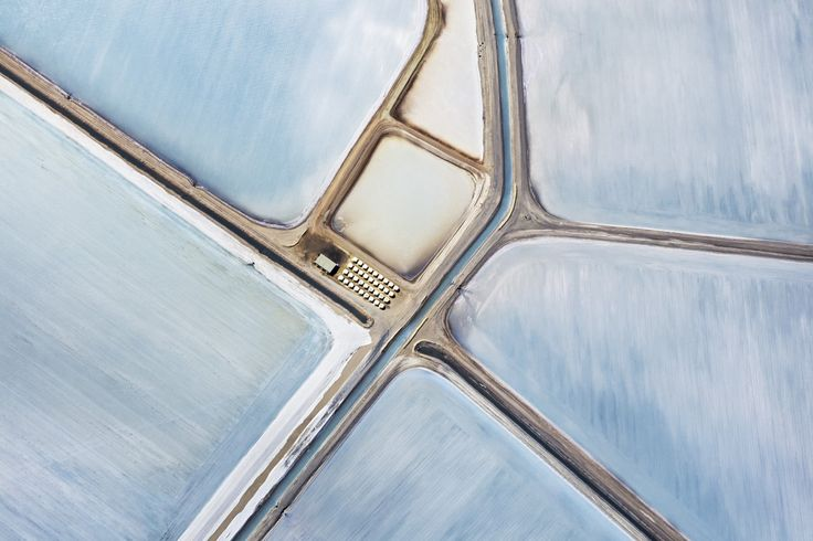 From 5,000 feet, Australia's magnificent salt fields reflected in a maze of ethereal blues - The Washington Post