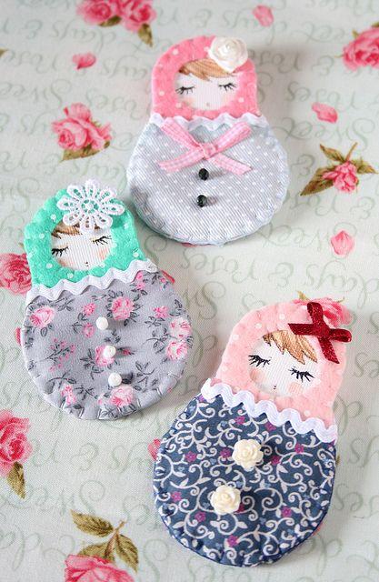 Matryoshkas | Handmade brooches | Fefi (Estefanía) | Flickr