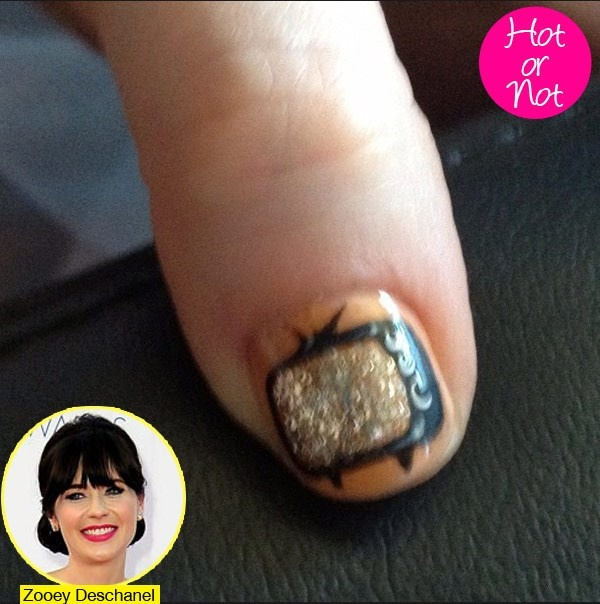 Zooey Deschanel's 2012 Emmy Nails: See Her Small-Screen Worthy Design - Hollywood Life