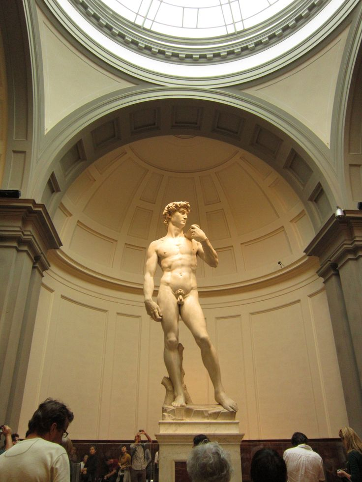Michelangelo's David in the Galleria del Academia in Florence, Italy. There are many coppies to be found, but none are as impressive as the original.  #Florence #Italy