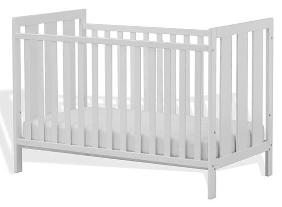 The Palermo cot has a sturdy construction, adjustable base height for new-born through to toddler use. Excludes mattress $199
