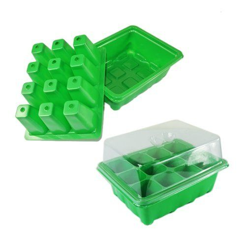 "New 2 Sets Green Cloning Insert Tray Plants Seeds Propagation Kit Clone Grow Box by NAVA. $14.99. Kit Size: 7"" length x 5 1/2"" width x 4 1/2"" height. Material: High quality durable plastic. Qty: 2 kits, 1 kit include dome, tray and 12 inserts. Hole size: 1 1/2"" length x 1 1/2"" width x 2"" depth. Color: Green. This is 2 Sets Green Cloning Insert Tray Grow Box This kit includes the dome, tray and inserts with holes for water circulation.  Includes? 2 kits, 1 kit ..."