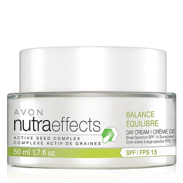 nutraeffects Balance Day Cream Broad Spectrum SPF 15 helps regulate oily zones while maintaining moisture in dry areas. It is an ultra-lightweight oil-free cream that reduces the appearance of shine instantly and helps balance skin without disturbing skin's natural pH balance. www.youravon.com/tanikaparson.