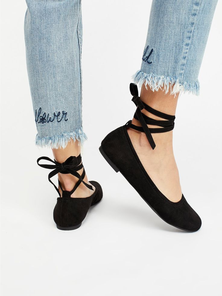 BC Footwear Black Vegan Hearts Flat at Free People Clothing Boutique