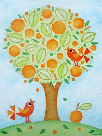 Orange Tree Canvas Art