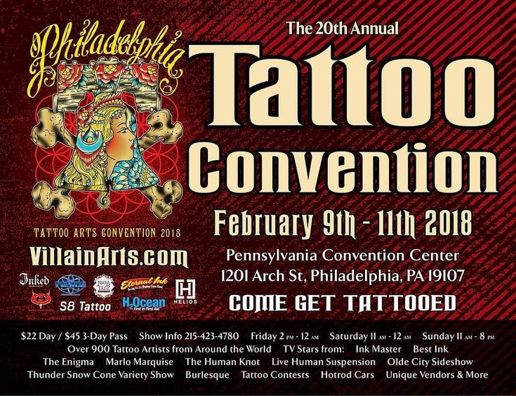 Just less then 2 months away is the @villainarts 20th Philadelphia Tattoo Convention February 9th-11th Tickets are $22 a Day or 45 for the weekend to get a booth contact them. We will be there all weekend!!!!!! Tags- #tattooedgirls #girlswithtattoos #inksonfire #inked #tattoos #tattooed #girlswithink #inkedup #inkedgirl #inkedchicks #inkedlife #tattoomodel #tattoogirl #inkedphilly #Alternativeasfuk #philly #tattooflash #tattooing #tattoosofinstagram #tattoostudio #tattooink #tattoodesign…