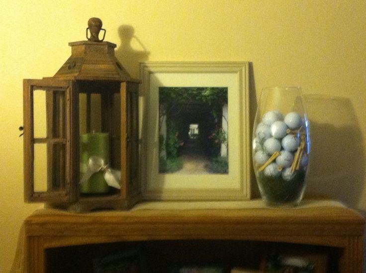 Fall lantern candle golf decor decoration bookshelf Golf decor for home