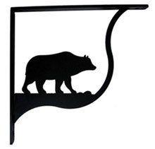 Bear Shelf Brackets by Village Wrought Iron. $36.98. Bear Shelf Brackets 5 1/4 In. H x 5 1/4 In. D