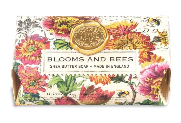 Michel Design Works Oversized Triple Milled Bath Soap Bar, Large, Blooms and Bees, 8.7 Ounce -- Find out more about the great product at the image link. (This is an Amazon Affiliate link and I receive a commission for the sales)