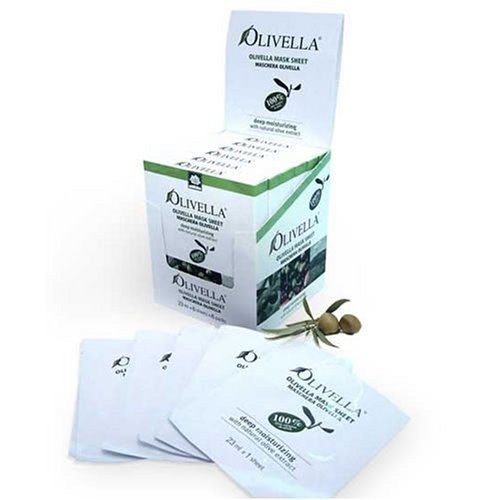 Olivella Face Mask Sheet - 100% Virgin Olive Oil 6 Units of 23 Ml Each by Olivella. $6.99. Not oily. Without dyes. 100% virgin olive oil. Anti aging properties. Nourishes the skin. Its advanced formula makes your skin moisturized and elastic. Thanks to virgin olive oil, that contains Vitamin E and other ingredients of vegetal origin, revitalizes your skin cell maintaining it firm and healthy. Usage: · Thoroughly cleanse and dry skin · Tear off the pouch and un...
