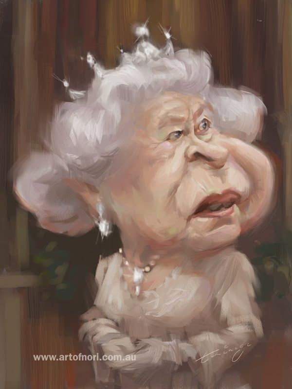 Queen Elizabeth II caricature published in ''The Royal Forums''