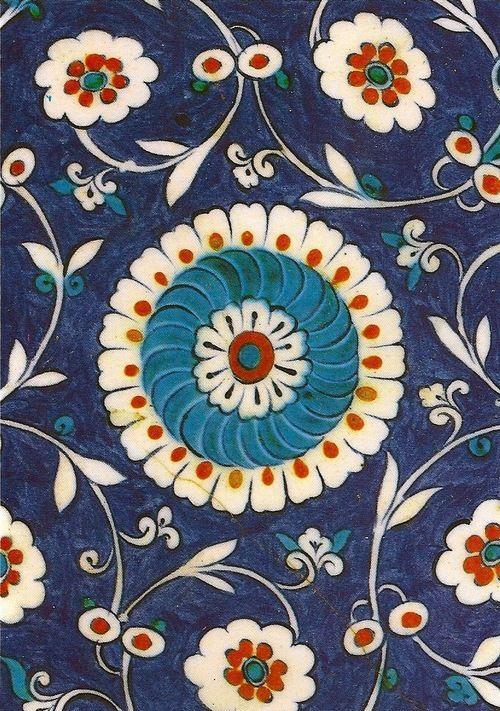 16th Century Turkish Encaustic Tiles.