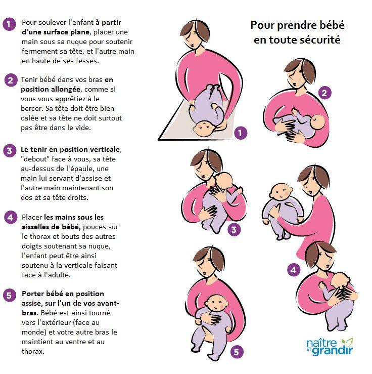 Voici les façons sécuritaires de prendre bébé en toute sécurité.