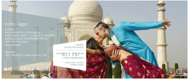 Avoca Travels Specials ... Romantic Escapes ~ INDIA, AGRA https://www.facebook.com/photo.php?fbid=573462702742962&set=a.370442539711647.86796.369549089800992&type=1&theater