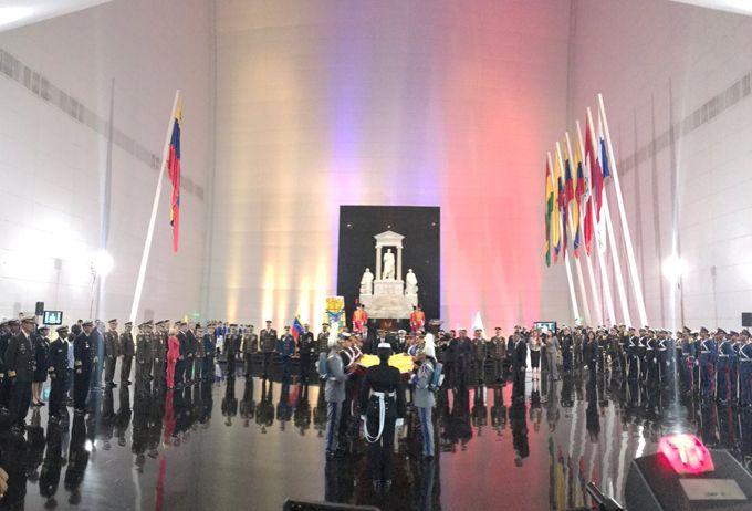 Se conmemoró los 234 años del natalicio del Libertador con la izada de bandera