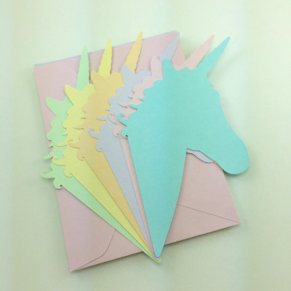 Unicorn Stationery Set of 6 with Envelopes by snew on Etsy