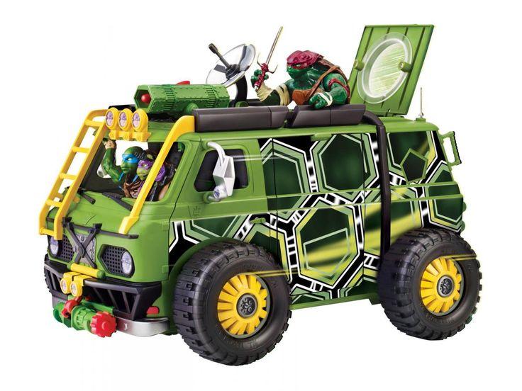 Camion de combats Tortues Ninja - Giochi Preziosi Camion des tortues ninja du film avec fonctions de combats: lance missile et lanceur de véhicule.