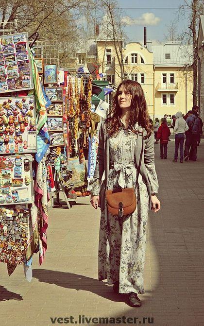 Платья ручной работы. Ярмарка Мастеров - ручная работа Платье в цветочек. Handmade.