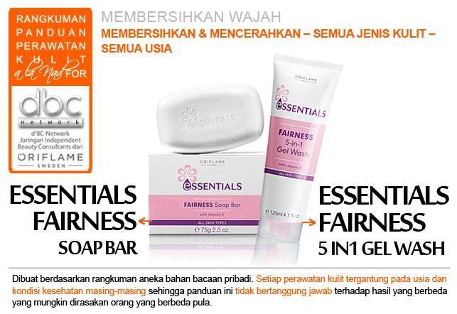 Essentials Fairness Soap Bar | Essentials Fairness 5in1 Gel Wash  | #pembersih #wajah #mencerahkan #kulit #semuajeniskulit #semuausia #tipsdBCN #Oriflame