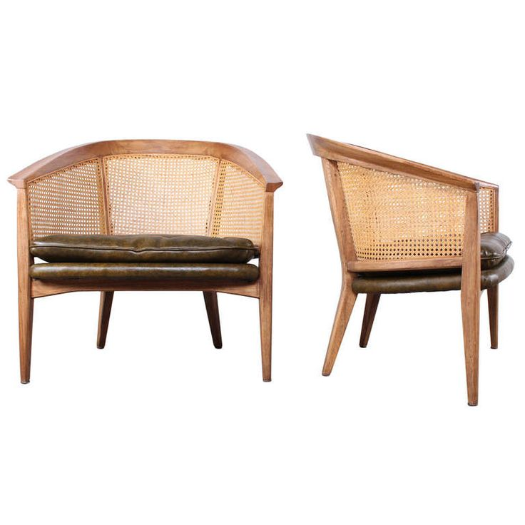 Pair of Barrel Back Lounge Chairs Attributed to Harvey Probber   From a unique collection of antique and modern lounge chairs at http://www.1stdibs.com/furniture/seating/lounge-chairs/