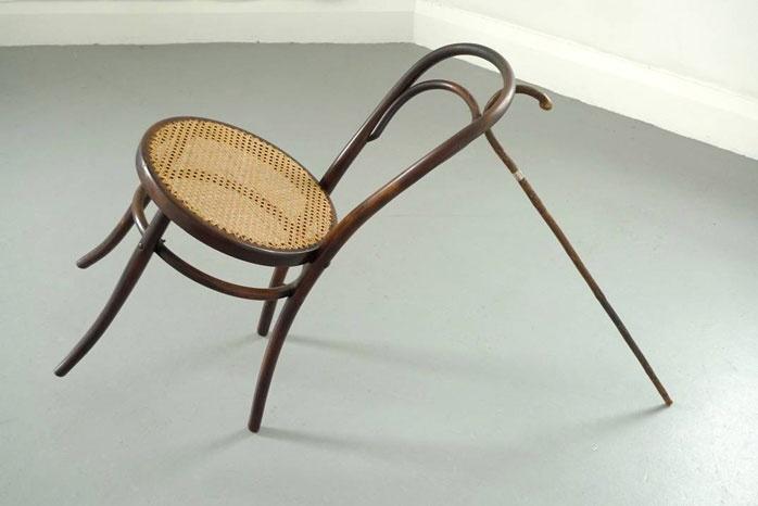 John Ward Knox - no title (cane, chair)