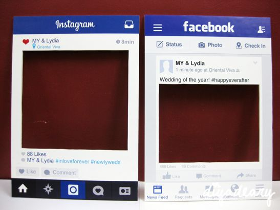 Instagram & Facebook Frame Props | Diyadeary