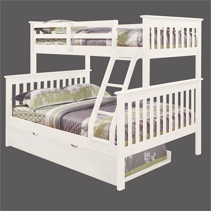 White Bunk Beds Twin Over Full Woodworking Projects Plans