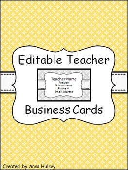 360 best clip art images on pinterest preschool printables and editable teacher business cards freebie wajeb Gallery