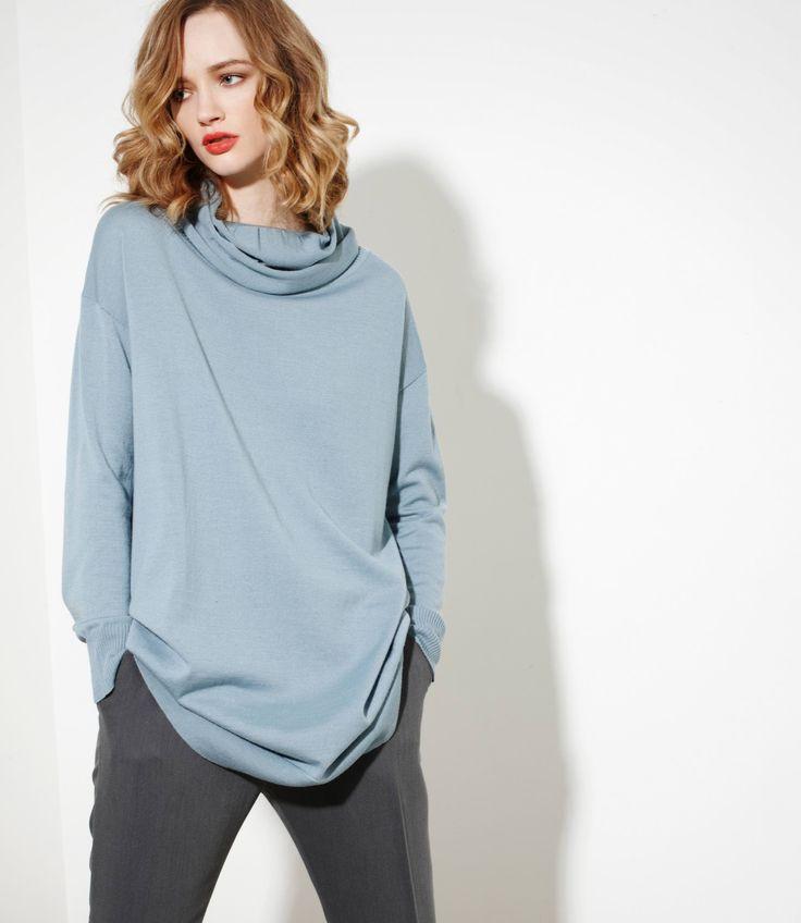 Zephyr Sweater in Ice - 100% Merinowww.nineteen46.co.nz