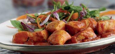 Kyckling Vindaloo med smak av ingefära, chili och garam masala