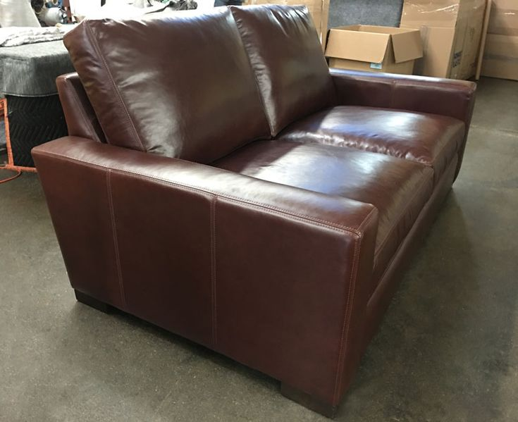Delivered Right Here In LA, This Braxton Leather Sofa Is Upholstered In Our  Italian Range Chocolate Leather. This Customer Selected The 43u2033 Depth, ...