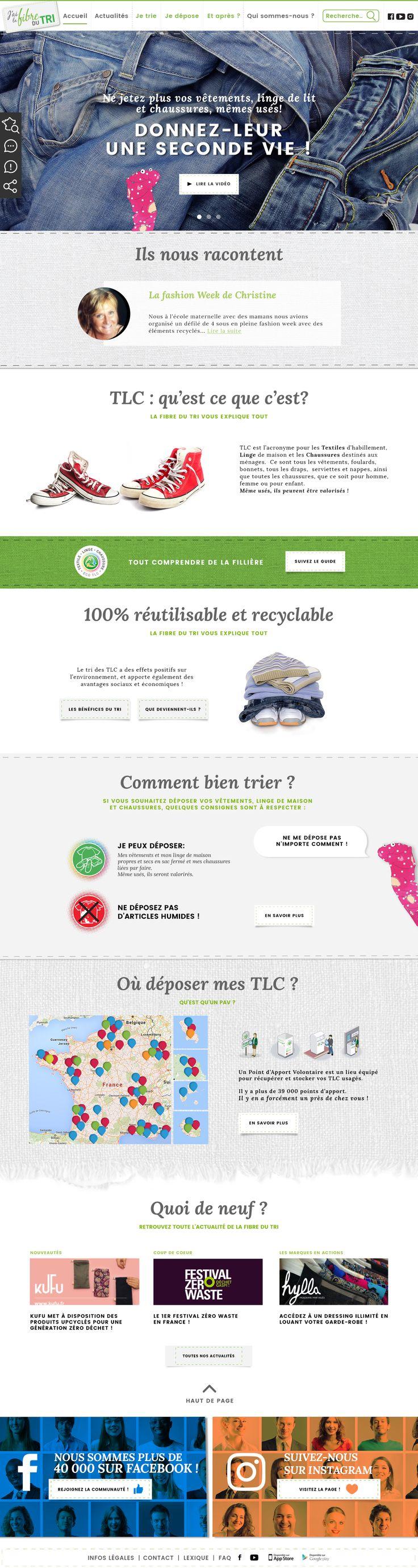 Je ne jette plus mes vêtements, mon linge de maison, ni mes chaussures, même lorsqu'ils sont usés ! JE LEUR DONNE  UNE SECONDE VIE! #lafibredutri #ecologie #recyclage