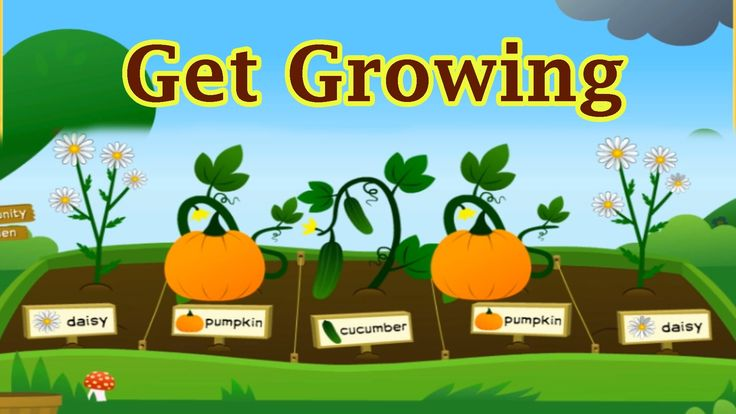 plant a garden and watch it grow grow growing shovel