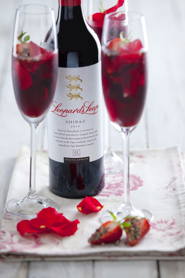 Spicy Leopard's Leap Shiraz cocktail!
