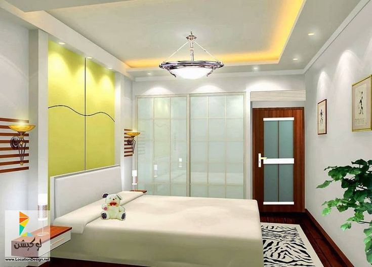 design gypsum board ceiling for small bedroom renovation ideas with beautiful interior design and cute colors