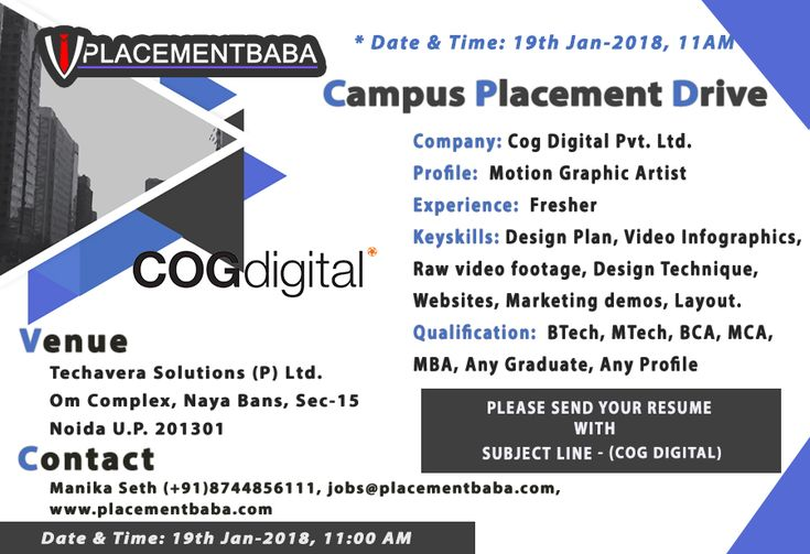 Techavera Campus Placement Drive 19th Jan 2018 Company-Cog - qtp resume