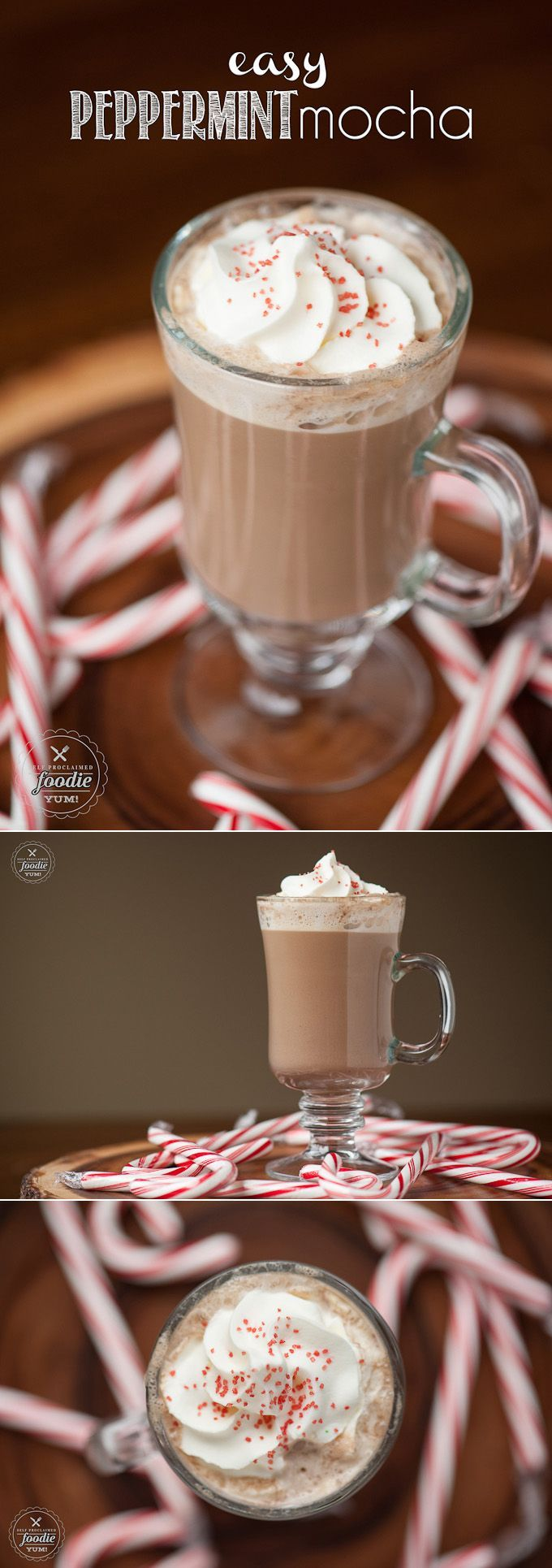 Don't waste your money on expensive holiday drinks at the coffee place when you can make your own delicious Easy Peppermint Mocha in your own kitchen!
