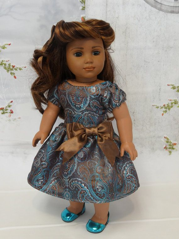 Winter Gala- party dress for American Girl doll on Etsy, $45.00