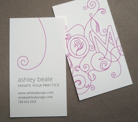 LOVE THESE!!  In Marigold...100 Custom Yoga Calling Cards - OM design. $48.00 USD, via Etsy.