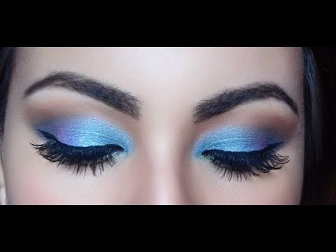 Tutorial sombra de ojos Azul Metalico // Sunset eyeshadow